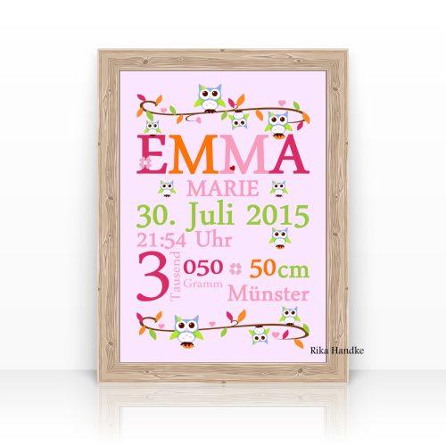 Emma Geburtsanzeige