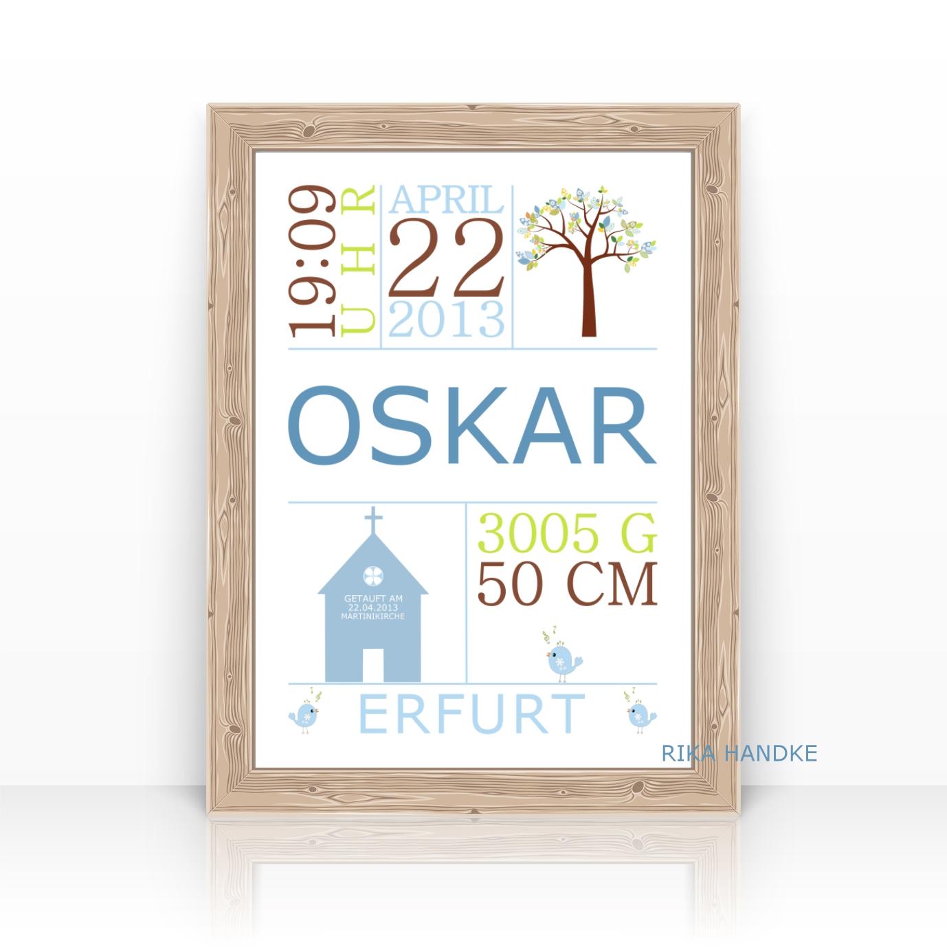 Geschenk Taufe Geburtsanzeige Taufgeschenk Lebensbaumkirche
