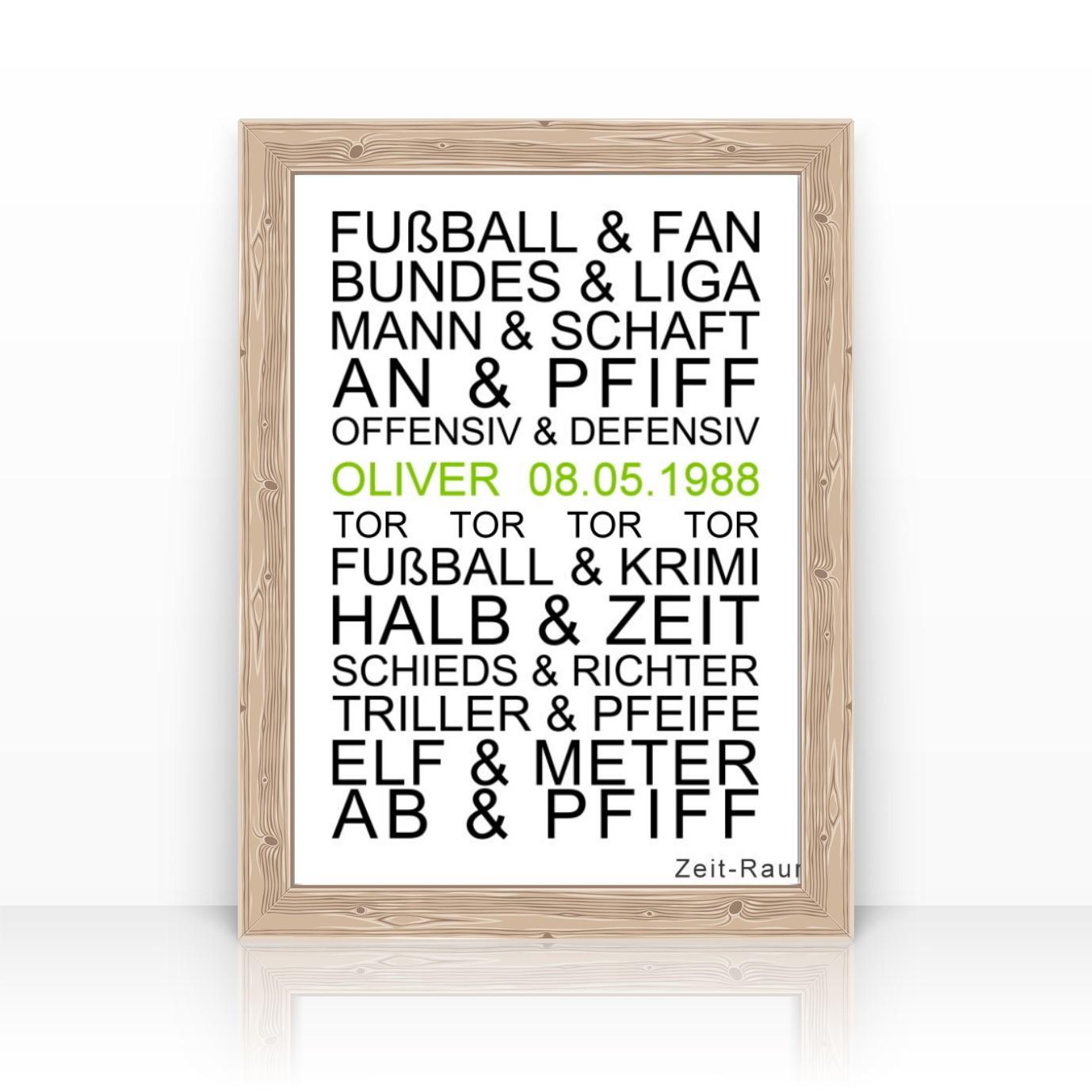 Fussballposter Personalisierter Kunstdruck Mit Namen