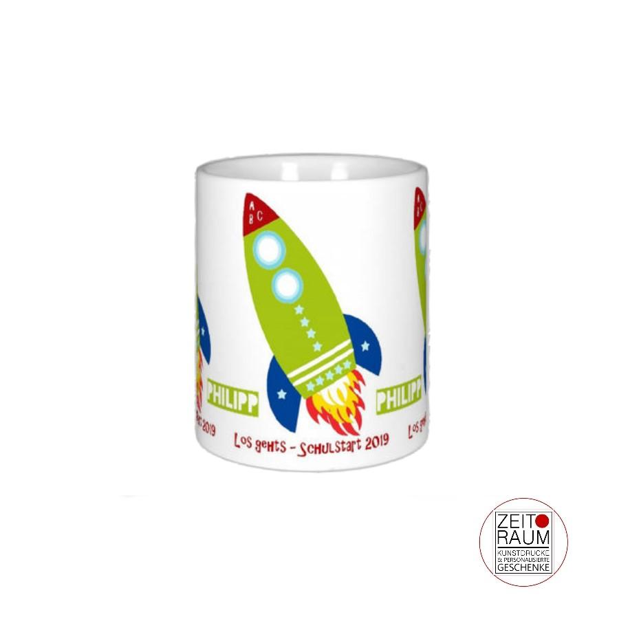 Einhorn Tasse mit Namen Kakaobecher Kindertasse Geschenk personalisiert