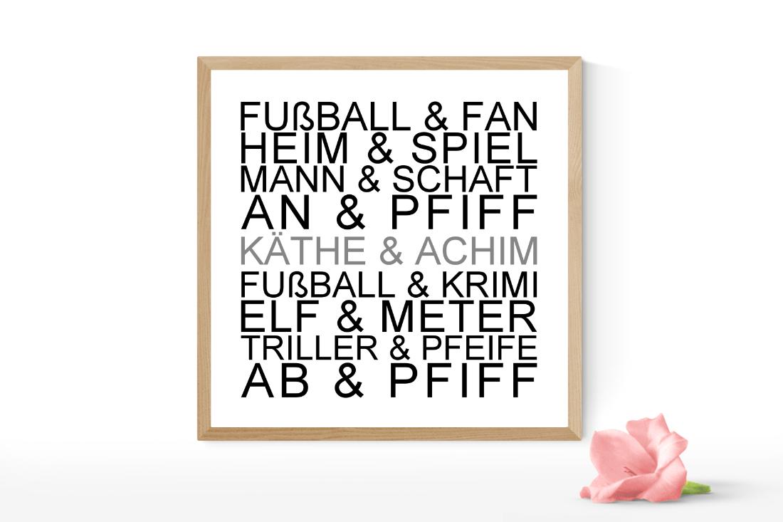 Hochzeitsgeschenk Poster Fußballfan