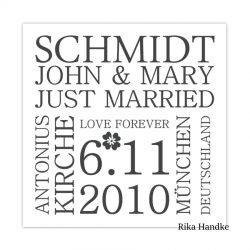 Hochzeitsgeschenk - John & Mary 2010